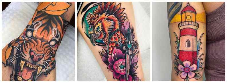 tatuajes tipo neotradicional