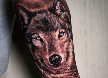 tatuaje animal lobo