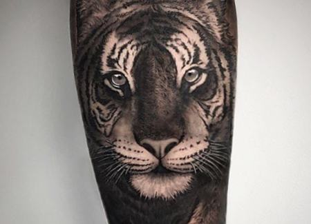 tatuaje animal tigre