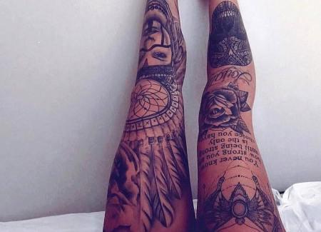 tatuaje cuerpo pierna