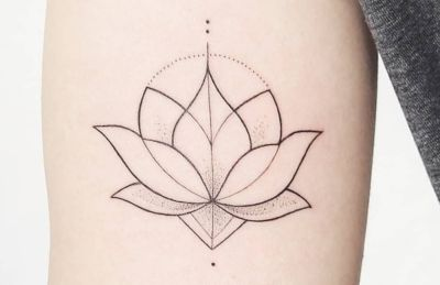 tatuaje flor de loto