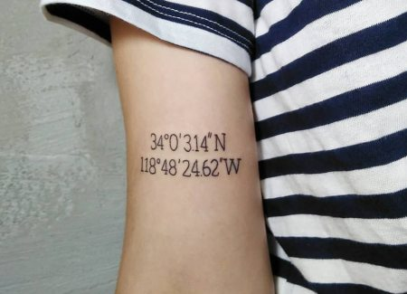 tatuaje simbolo coordenadas