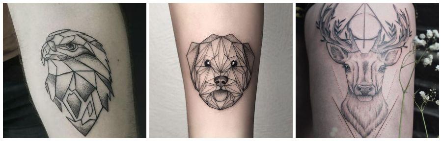 tatuajes de animales geométricos