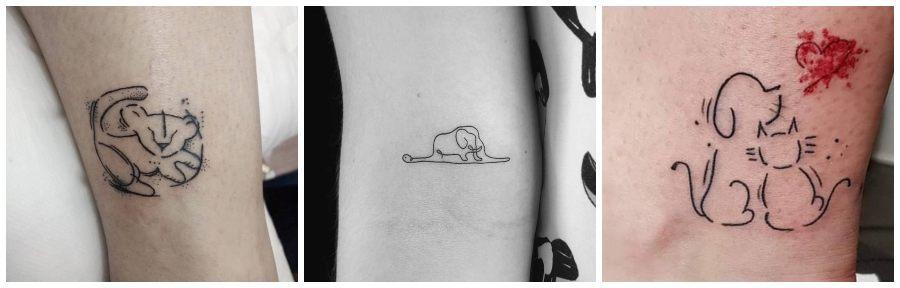 tatuajes de animales minimalistas