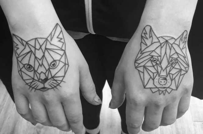 tatuajes geometricos animales