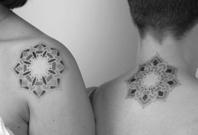 tatuajes madre e hija mandalas