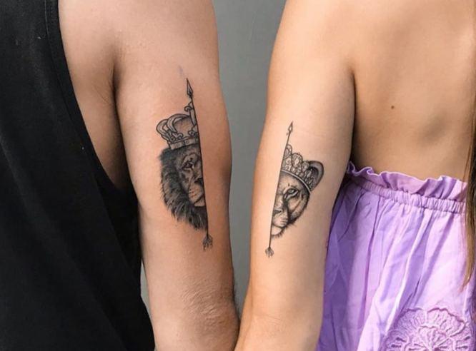 tatuajes pareja leones