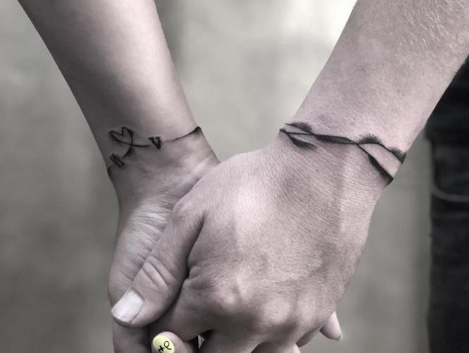 tatuajes pareja pulseras