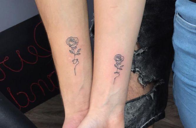 tatuajes pareja rosas