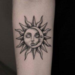 Tatuajes de Sol y Luna con Significado, Diseños e Ideas