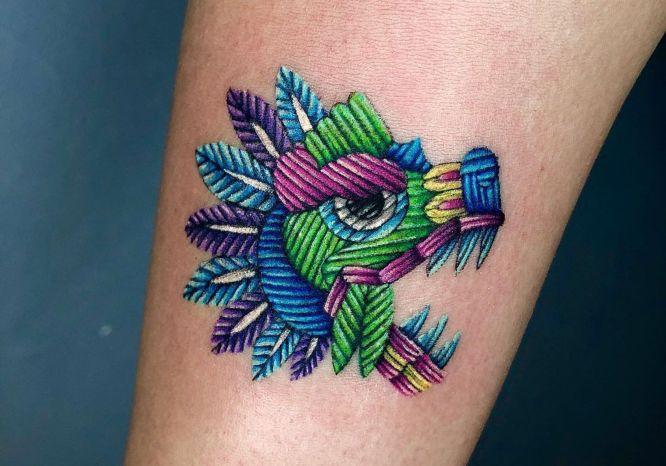 tatuaje bordado dragón