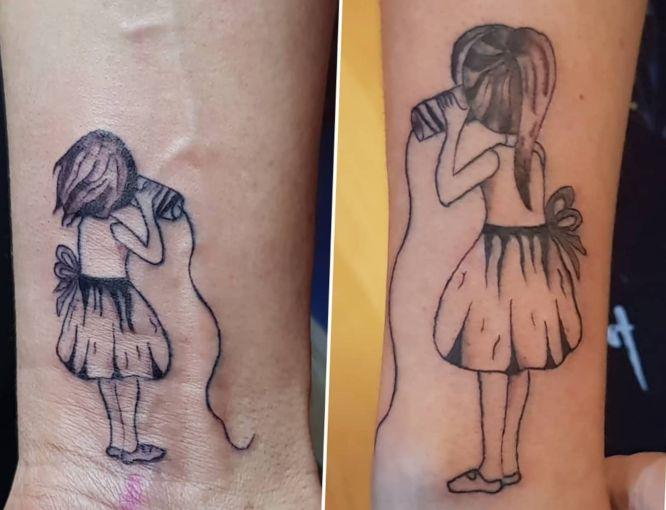 tatuajes amigas muñecas