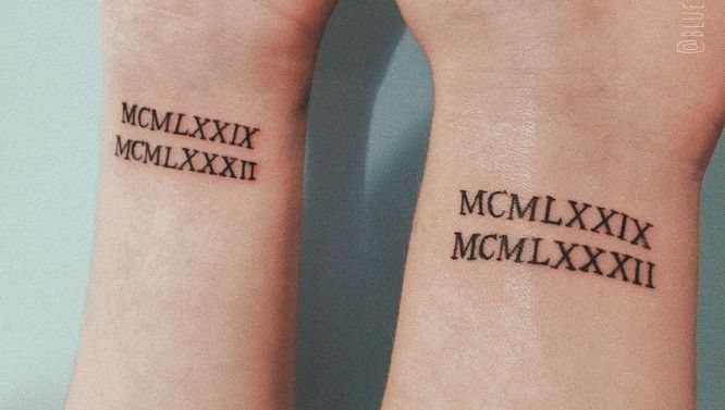 tatuajes amigas numero romanos
