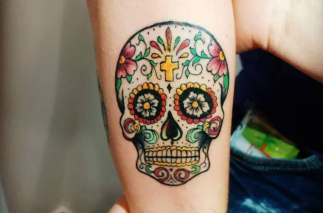 tatuajes calavera mexicana mujer