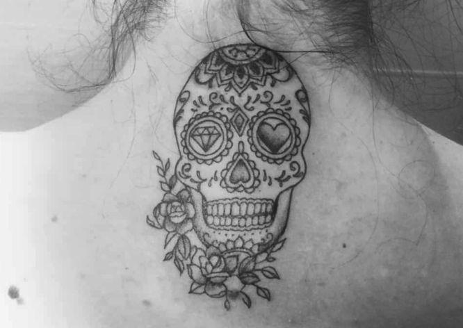tatuajes calaveras mexicana blanco negro