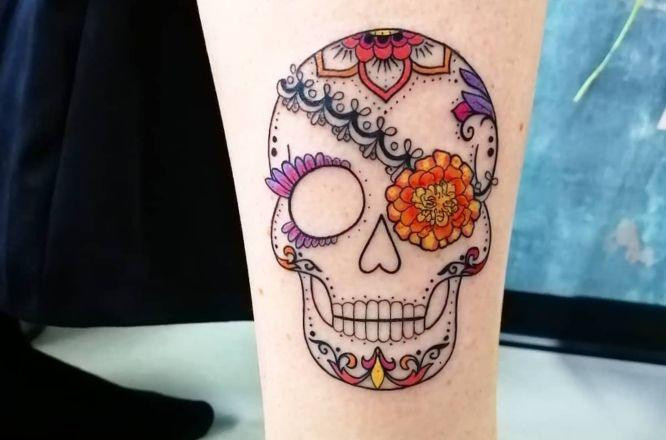 tatuajes calaveras mexicanas mujer