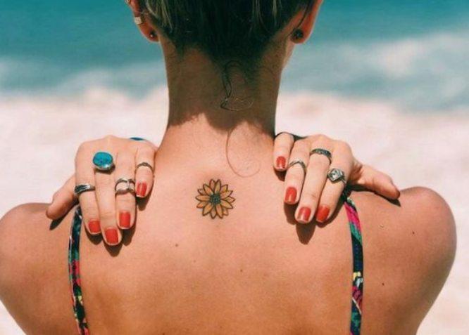 tatuajes pinterest espalda girasol