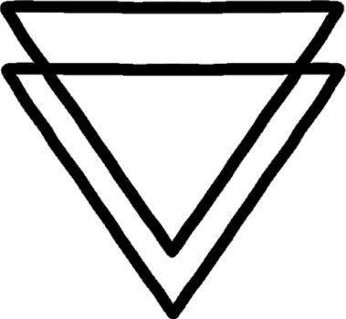 Significado Doble Triangulo
