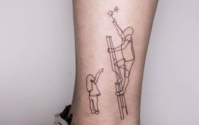 diseños tatuajes padre e hija
