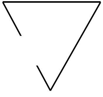 significado triangulo abierto