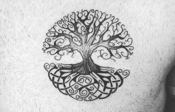 tatuaje arbol de la vida celta