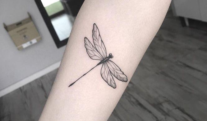 tatuaje libelula pequeña