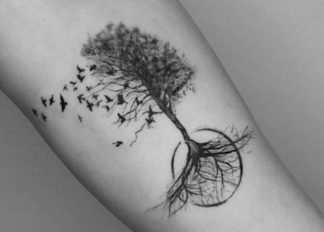 tatuajes arbol de la vida brazo