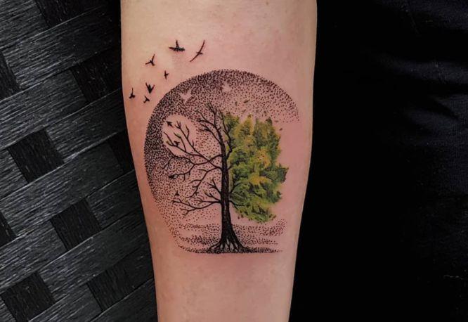 tatuajes arbol de la vida hombre