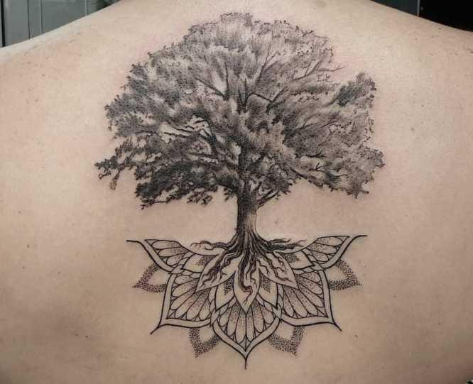 tatuajes arbol de la vida mujer mandala