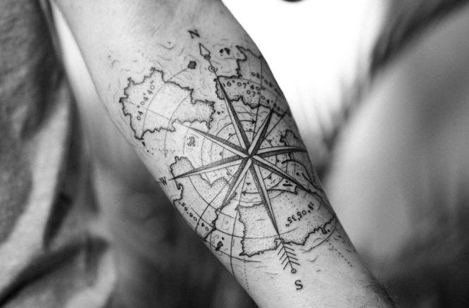 tatuajes brujulas mapas