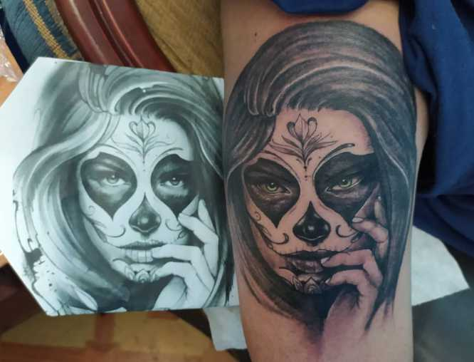 tatuajes catrina hombre