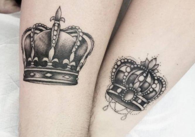 tatuajes coronas rey reina