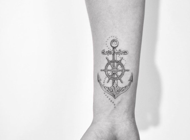 Tatuajes De Anclas Con Significado Diseños E Ideas Tatuing