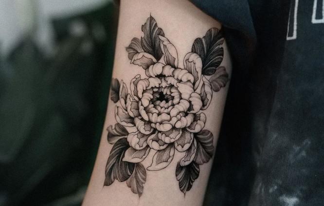 tatuajes de flores Crisantemos