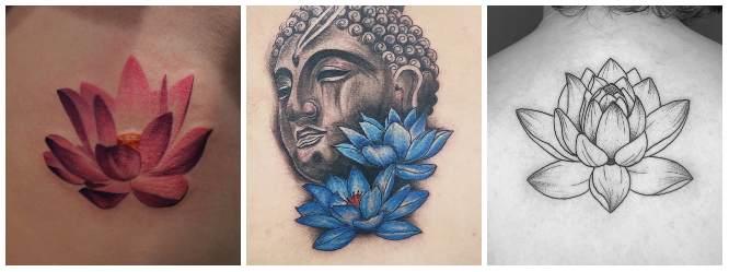 tatuajes flor de loto colores