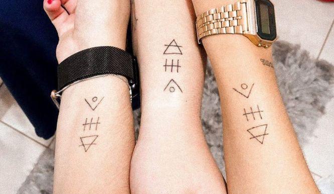 tatuajes glifos amigas