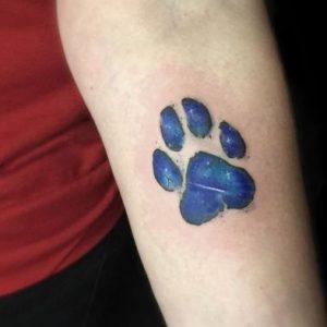 Tatuajes Huellas de Perro