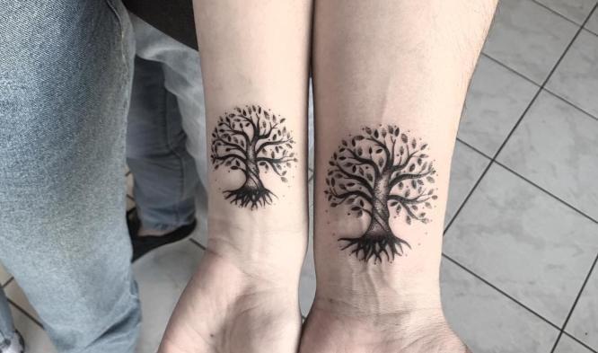 tatuajes padre e hija arbol de la vida