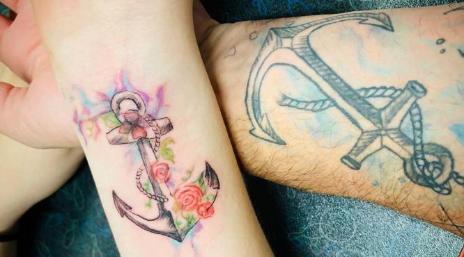 tatuajes padre e hija brazo