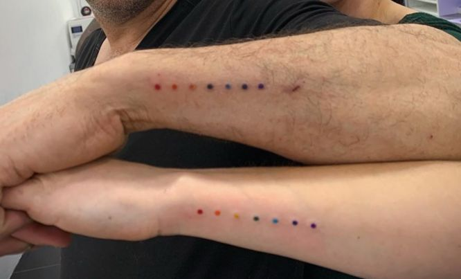 tatuajes padre e hija pequeños color