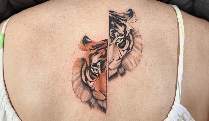 tatuajes tigres espalda caras