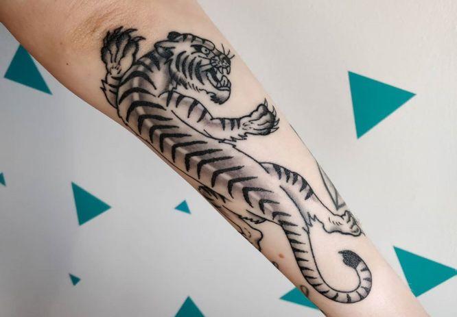 tatuajes tigres japones