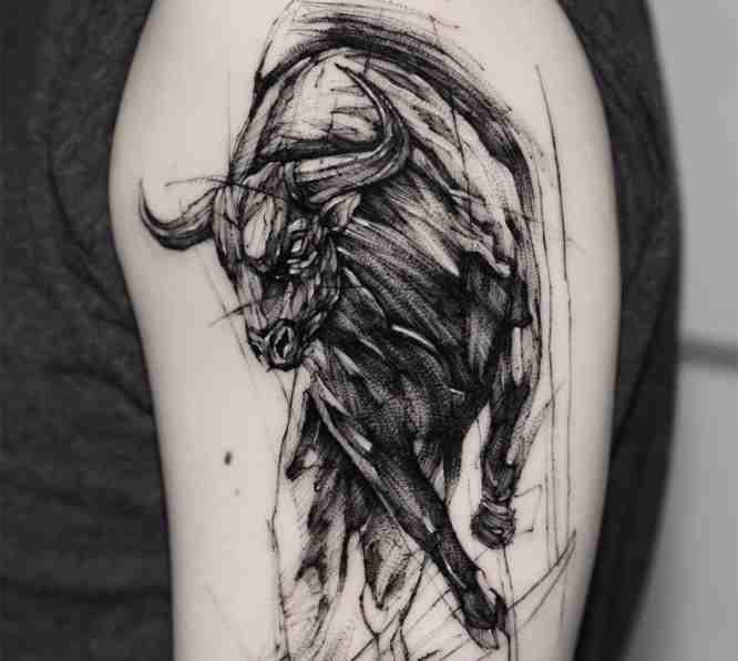 tatuajes toro brazo