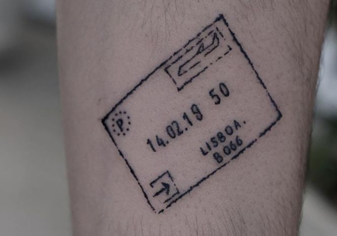 tatuajes viajes sello pasaporte