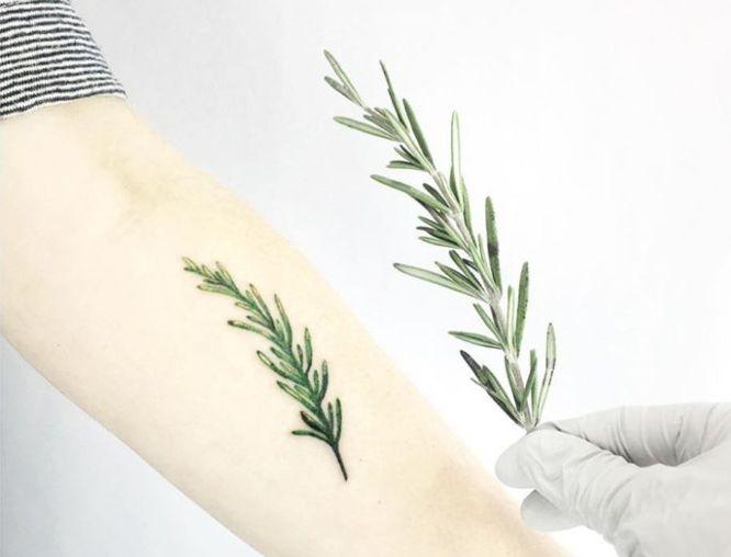 tatuajes antebrazo pequeño romero