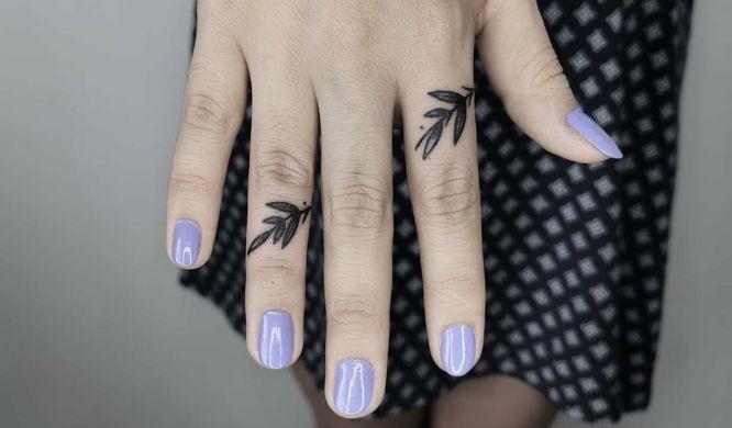 tatuajes dedos ramas