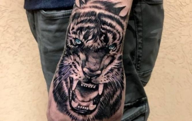 tatuajes mano hombre tigre
