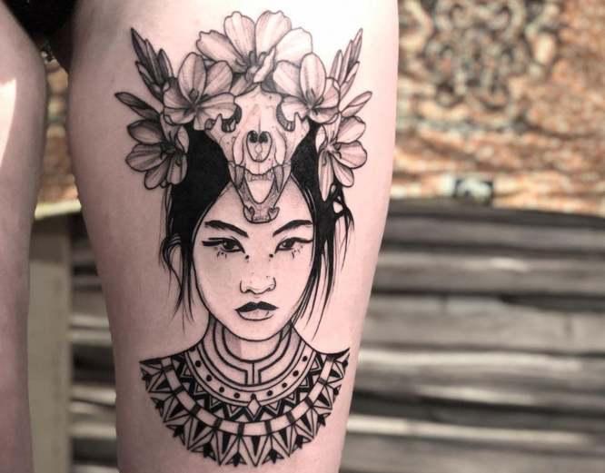 tatuajes pierna mujer