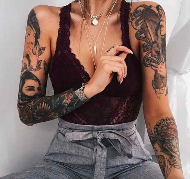 tatuajes chica brazos